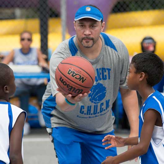 Charlie Batch with Project CHUCK participants